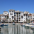Luxury yachts in port La Duquesa. Costa del Sol, Andalusia Spain — Stock Photo