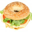 Fresh bagel sandwich — Stock Photo