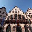 Historical Romer Square in the city of Frankfurt Main, Germany - Stockfoto