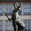 Lady Justice Statue in Frankfurt Main, Germany — Stock Photo