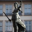 Lady Justice Statue in Frankfurt Main, Germany - ストック写真