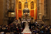 Wedding in the church. El Puerto de Santa Maria, Andalusia Spain — ストック写真