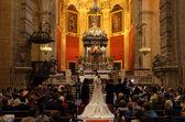Wedding in the church. El Puerto de Santa Maria, Andalusia Spain — Stock Photo