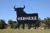 Famous Osborne Bull in El Puerto de Santa Maria, Andalusia Spain — Stock Photo