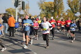 Runners on the street during the Frankfurt Marathon 2010 in Germany — Stock Photo