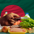 Постер, плакат: Buying groceries with credit card in bangladesh