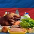Постер, плакат: Buying groceries with credit card in cambodia