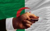 Buying with credit card in algeria — Stock Photo