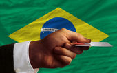 Buying with credit card in brazil — Stock Photo