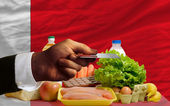Buying groceries with credit card in bahrain — Stock Photo