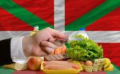 Köpa dagligvaror med kreditkort i baskiska — Stockfoto