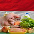 Buying groceries with credit card in hungary — Stock Photo