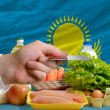 Buying groceries with credit card in kazakhstan — Stock Photo #11182988