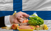 Buying groceries with credit card in finland — Stock Photo