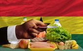 Buying groceries with credit card in ghana — Stock Photo