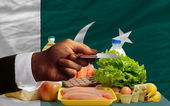 Buying groceries with credit card in pakistan — Stock Photo