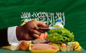 Buying groceries with credit card in saudi arabia — Stock Photo