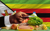 Buying groceries with credit card in zimbabwe — Stock Photo