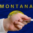 Buying with credit card in us state of montana — Stock Photo