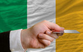 Buying with credit card in ireland — Stock Photo