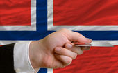 Buying with credit card in norway — Stock Photo