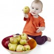 Baby with apples — Stock Photo #11097763