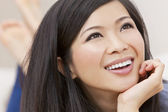 Close Up Portrait Beautiful Young Asian Chinese Woman — Stock Photo