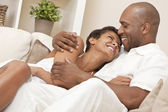Happy African American Man & Woman Couple — Stockfoto