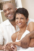 Happy African American Man & Woman Couple — Stock Photo