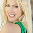 Happy Smiling Beautiful Young Blond Woman — Stock Photo