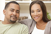 Happy African American Man Woman Couple — Stock Photo