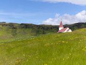 Kostel v horní části kopce — Stock fotografie