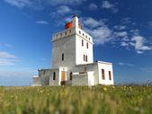 Dyrholaey lighthouse in iceland — Stock Photo