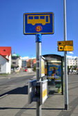 Bus stop in Iceland — Stock Photo
