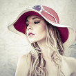 Stock Photo: Portrait of a sensual girl in the hat