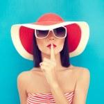 Secret summer Girl — Stock Photo