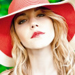 Beautiful girl in the hat — Stock Photo
