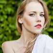 Portrait of a beautiful girl in the park — Stock Photo #11242163