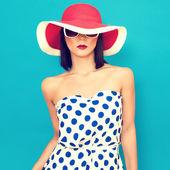 Smyslná dívka letní — Stock fotografie