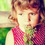 Portrait of a cute little girl — Stock Photo