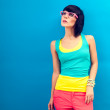 Funky summer portrait of a beautiful girl — Stock Photo
