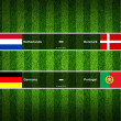 Match Day - 9 June 2012 ,euro 2012 ,Grass Background - Stock Photo