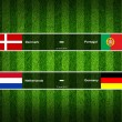 Match Day - 13 June 2012 ,euro 2012 ,Grass Background — Stock Photo