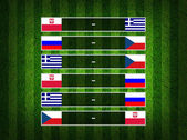 Group stage ,euro 2012 group A on Grass Background — Stock Photo
