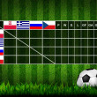 Soccer ( Football ) Table score ,euro 2012 group A — Stock Photo #10760105