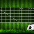 Blank Soccer ( Football )  Table score on grass field — Stockfoto