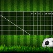 Blank Soccer ( Football )  Table score on grass field — Foto de Stock