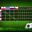 Soccer ( Football ) Table score ,euro 2012 group A — Stock Photo #10760689