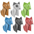 Origami dog Recycled Papercraft — Stock Photo