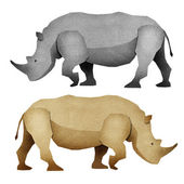 Papercut Rhino Recycled Paper — Stock Photo